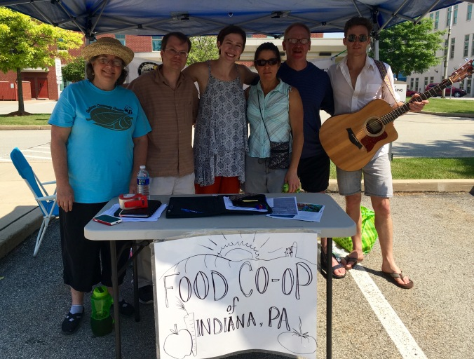 Co-Op Booth at Farmers' Market 6-11-16